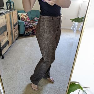 Vintage Mondi 42 Silk Wool High Waisted Pants